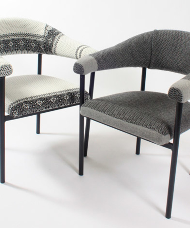 The Ganzie,  unique upcycled woolen jumper armchair